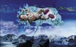 La montagne pense V - huile sous verre - 198 x 124 cm - 1999 -  Musée d'art moderne et contemporain Strasbourg