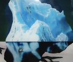 Détail, hommage à Ruysdael VI (avec iceberg) - huile sous verre - 100 x 130 cm - 2004