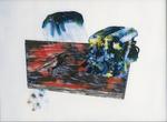 Suite Hölderlin - huile sous verre - huile sous verre - 117 x 154 cm - 1997