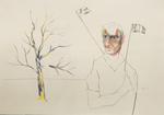 Sans titre - crayon et crayon couleur sur papier - 30 x 42 cm - 2012