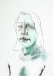 Pauline (12 x) - crayon, pastel et encre sur papier - 60 x 50 cm - 2009