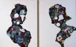 Diptyque (homme femme) - huile et acryl sur toile - 2004