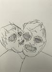 Sans titre - pinceau feutre sur papier - 30 x 41,5 cm - carnet du 15 juin 2018 au 16 février 2019 (sélection)