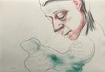 Mesure - crayon et encre sur papier - 26,5 x 38,5 cm - 2012