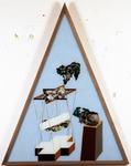 Les sept péchés capitaux - paresse - 165 x 128 cm - huile sous verre - 1996