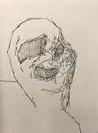 Sans titre - pinceau feutre sur papier - 30 x 41,5 cm - carnet du 27 avril au 2 juin 2019 (sélection)