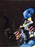 Maternité fond mauve - huile et acryl sur toile -80 x 60 cm - 2005