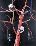 Inakalé V - technique mixte sur toile, cravates- 230 x 180 cm - 2002
