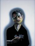 Portrait mondain V avec Europe - huile sous verre - 90x70 cm - n°16/ 2000
