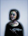 Portrait mondain II avec Russie - huile sous verre - 90x70 cm - n°13/2000