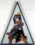 Les sept péchés capitaux - luxure - 165 x 128 cm - huile sous verre - 1996