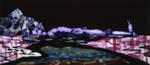 Im Wasser liegend III - huile sous verre - 90 x 200 cm - 2003