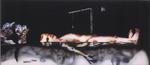 Im Wasser liegend IV - huile sous verre - 90 x 200 cm - 2003
