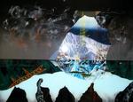 Hommage à Ruysdael VII (avec ciel dramatique) - huile sous verre - 100 x 130 cm - 2004