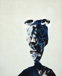 Figure (gris bleu) - pastel et acryl sur toile - 90 x 70 cm - 2004