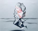 Sans titre - crayon, encre et gouache sur Zerkall bleu gris - 32 x 39 cm - 2012