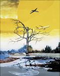 Paysage moderne V - huile sous verre - 155 x 125 cm - 2001