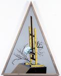 Les sept péchés capitaux - avarice - 165 x 128 cm - huile sous verre - 1996