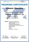 Certificazione Exacq Server and Client