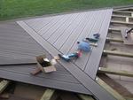 Détail de pose terrasse bois composite