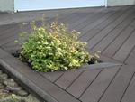 Terrasse bois composite, bac à fleurs intégré
