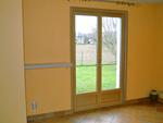 Porte-fenêtre bois aluminium, intérieur chêne