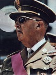 Francisco Franco - President de la República anterior a l'actual monarquia -.