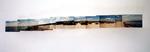 Keine Insel I 11 Fotografien I an der Wand in verschiedenen Höhen montiert mit Überlappungen I 87x10 cm I 2000