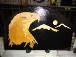 D 1b  Tête d'aigle avec la lune et les montagnes
