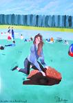 """Un après-midi au grand canal (162*114 cm) huile sur toile 2010 (Numérique) Exposé à """"LA LOUVIERE"""" 2011 Amis des arts"""