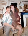 Les amoureux Toile à l'huile 2013 (F50 - 116 X 89 cm)