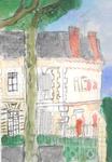 Aquarelle -Vue sur avenue Marx Dormoy, Montlucon - Atelier Rouget