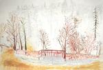 Aquarelle - Vue de l'aqueduc à Neris-Les-Baims - Philippe Rousseau
