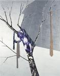 Inakalé VI - technique mixte sur aluminium, punaises, cravates - 230 x 180 cm - 2002