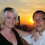 Evi und Andy und ein Sonnenuntergang