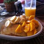 Mango Pancake und Mango Shake