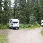 Campingplatz mitten in der Wildnis