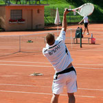 Andy in Action beim BSH Tennisturnier