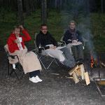 Abends am Feuer in Jasper