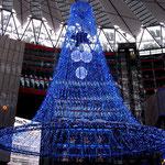Weihnachtsschmuck im Sony Center am Potsdamer Platz