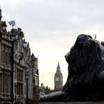 Big Ben vom Trafalgar Square aus