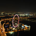 Singapore Flyer bei Nacht