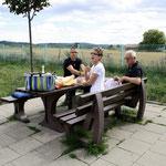 Picknick auf der Hinfahrt