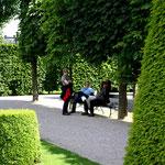 Pause im Garten von Schönbrunn