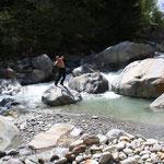 Andy im Wasser