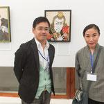 こちらは今回特別枠の浮世絵作家みはし・まりさん。いやぁ肉筆の作品はどれも圧巻でした。