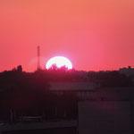 最後の夕日。本当に夢のようで、楽しくてかけがえの無い経験が盛り沢山の旅でした。ラフマット、ウズベキスタン!