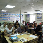 Обучающиеся за решением экзаменационных билетов