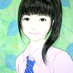 「PINK×BLUE』 F0号 2012年 個人蔵