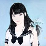 『セーラー服と幻獣 〜アミコミ〜』2016年 F3号 個人蔵